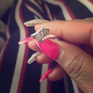 Diamond two heart ring